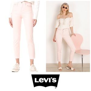 Anthropologie Levi's Icon Pink Wedgie Fit Jeans 👖